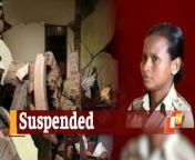 A sub-inspector has been suspended for negligence in duty in connection with the explosion at Balanga Police Station in Puri district.