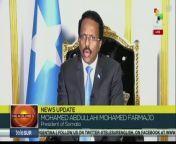 Mohamed Abdullahi Mohamed Farmajo President of Somalia at the 76th general debate session of United Nation General Assembly. teleSUR